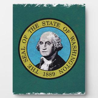Washington-Flagge Fotoplatte
