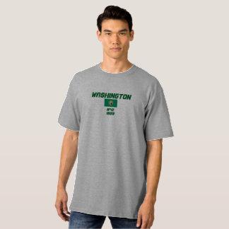 Washington-Flagge Hanes hoher T - Shirt