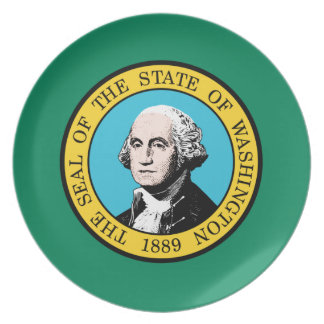 Washington-Flagge Melaminteller