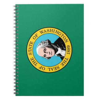 Washington-Flagge Spiral Notizblock