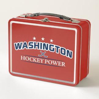 Washington-Hockey-Power-Mittagessen-Kasten Metall Lunch Box