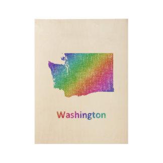 Washington Holzposter