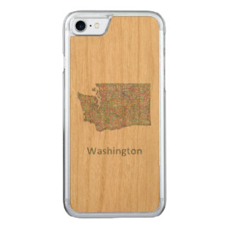 Washington-Karte Carved iPhone 8/7 Hülle