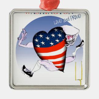 Washington laute und stolz, tony fernandes silbernes ornament