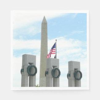Washington-Monument und WWII Denkmal in DC Servietten