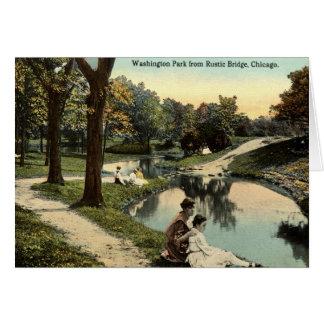 Washington-Park-Chicago-Kinder 1915 Vintag Karte