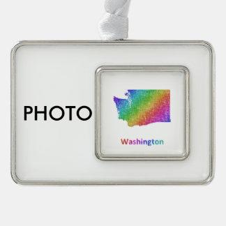 Washington Rahmen-Ornament Silber