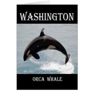 Washington-Schwertwal-Wal Karte