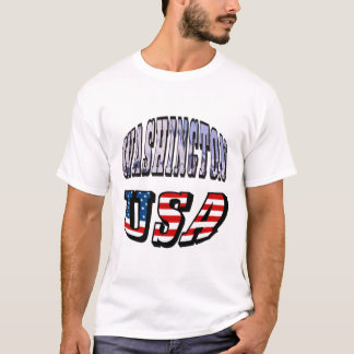 Washington-Staats-Bild und USA-Text T-Shirt