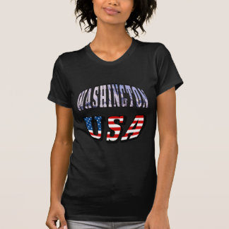 Washington-Staats-Bild und USA-Text T-Shirt