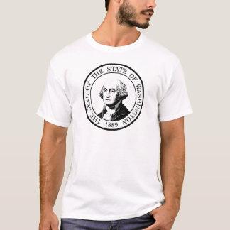Washington-Staats-Flagge Posterized T-Shirt
