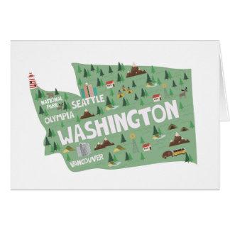 Washington-Staats-Sehenswürdigkeiten Notecards Karte