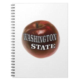 Washington-Staatsrotapfel Spiral Notizblock