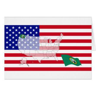 Washington, USA Karte