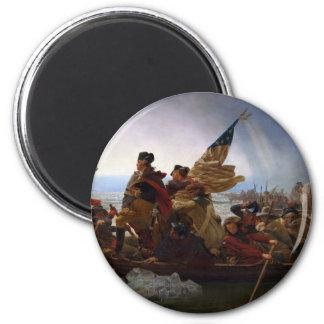 Washington Vintage Kunst, das des Delawares - US Runder Magnet 5,1 Cm