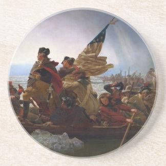 Washington Vintage Kunst, das des Delawares - US Sandstein Untersetzer