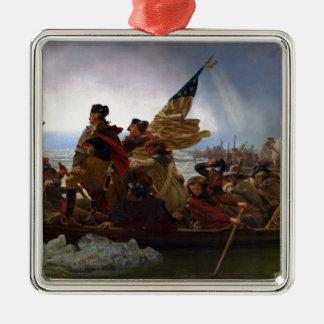 Washington Vintage Kunst, das des Delawares - US Silbernes Ornament