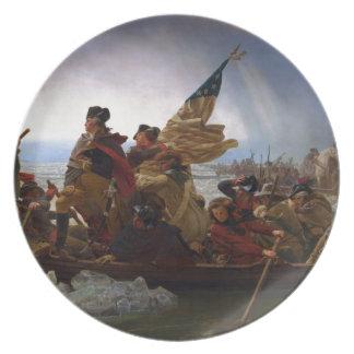 Washington Vintage US Kunst, das des Delawares - Melaminteller