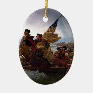 Washington Vintage US Kunst, das des Delawares - Ovales Keramik Ornament