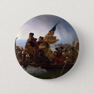 Washington Vintage US Kunst, das des Delawares - Runder Button 5,1 Cm