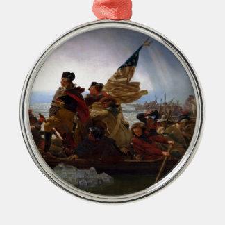 Washington Vintage US Kunst, das des Delawares - Silbernes Ornament