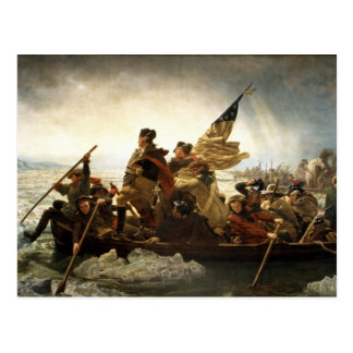 Washington, welches das Delaware kreuzt Postkarte