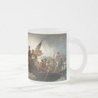 Washington welches das Delaware kreuzt Tee Tassen