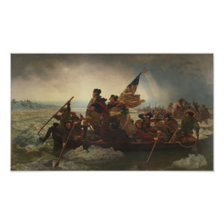 Washington, welches die Delaware-Malerei kreuzt Poster