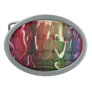 Wasser abstrakt ovale gürtelschnalle