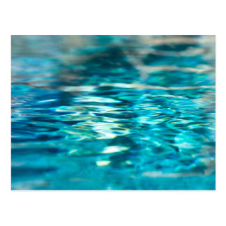 Wasser-abstraktes blaues Grün-Türkis-Aqua-Meer Postkarte