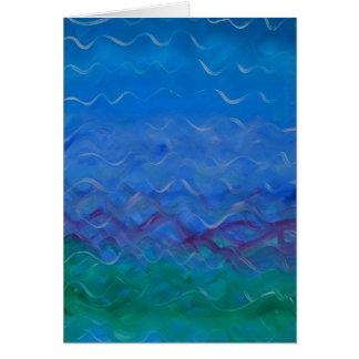 """""""Wasser"""" - Acrylmalerei auf leerer Grußkarte"""