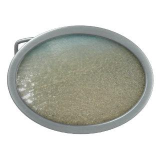 Wasser auf der abstrakten Natur-Fotografie des Ovale Gürtelschnalle