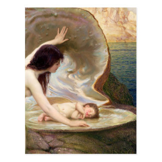 Wasser-Baby - Textilkaufmann Herberts James Postkarte