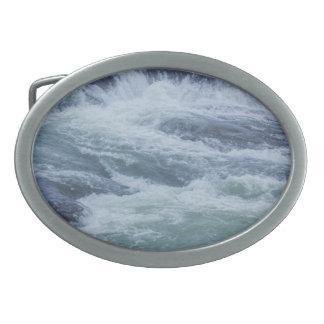 Wasser-Beschaffenheiten Ovale Gürtelschnalle