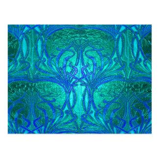 Wasser-Blau-Muster Postkarten