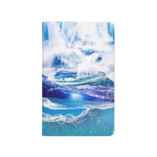 Wasser blendet Notizbuch