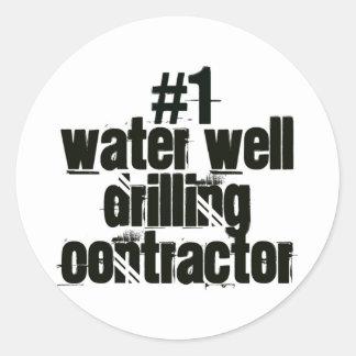 Wasser-Brunnen-bohrender Auftragnehmer Aufkleber
