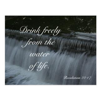 Wasser des Lebens Postkarte