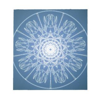 Wasser-Elffeenhafter Pentagram Wicca Notizblock