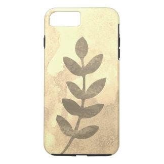 Wasser-Farbe/Blätter/Sepia iPhone 8 Plus/7 Plus Hülle