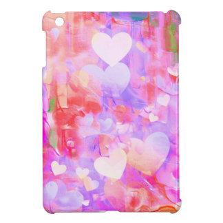 Wasser-Farbherzen iPad Mini Hülle