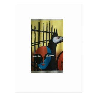 Wasser-Farbzeichnen avialable im Fotorahmen Postkarte