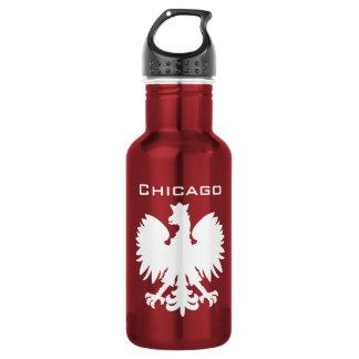Wasser-Flasche Chicagos Polska Edelstahlflasche