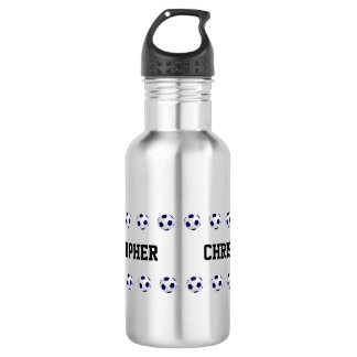 Wasser-Flasche, personalisiert, Fußball, Stahl Trinkflasche