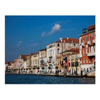 Wasser-Front entlang dem Canal Grande von Venedig Postkarten