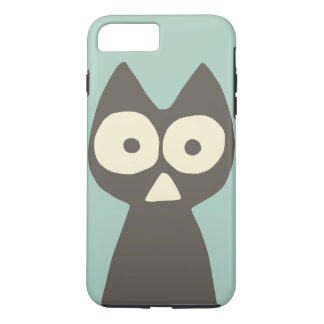 Wasser-grünes graues Dreieck-symbolische Katze iPhone 8 Plus/7 Plus Hülle