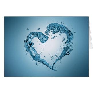 Wasser-Herz-Form - Gruß-Karte Karte