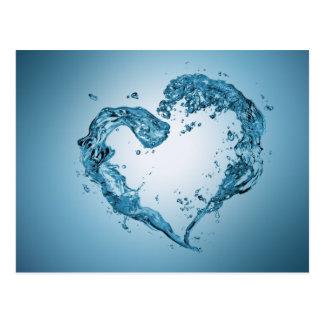 Wasser-Herz-Form - Postkarte