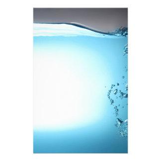 Wasser-Hintergrund Briefpapier