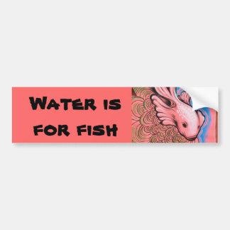 Wasser ist für Fische Autoaufkleber